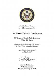 Záštita US Embassy